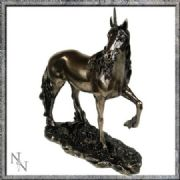 Stunning Bronze Effect Unicorn Standing Fantasy Art Figurine